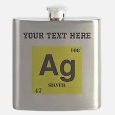 Custom Silver Flask