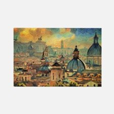 Rome Skyline - Impasto Painting Magnets