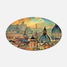 Rome Skyline - Impasto Painting Wall Decal