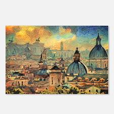 Rome Skyline - Impasto Painting Postcards (Package