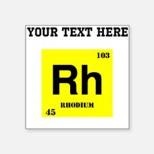 Custom Rhodium Sticker