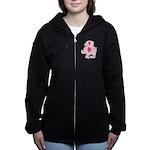 Big Sister Pink Elephant Women's Zip Hoodie