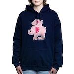 Big Sister Pink Elephant Women's Hooded Sweatshirt