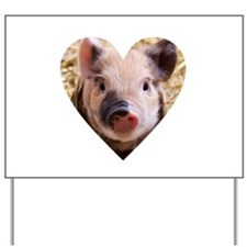 Cute Pig Yard Sign