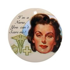 Vintage Nurses Don't Scare Ornament (Round)