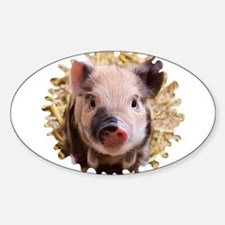 Sweet piglet,white mask Decal