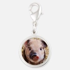Sweet piglet,white mask Charms