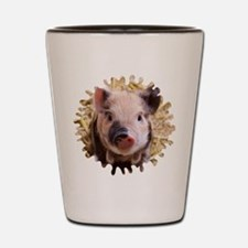 Sweet piglet,white mask Shot Glass