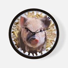 Sweet piglet,white mask Wall Clock