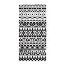 Aztec Essence Ptn Bw Beach Towel