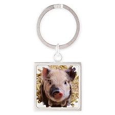 Sweet piglet,white mask Keychains