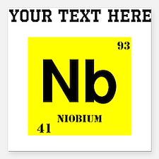 """Custom Niobium Square Car Magnet 3"""" x 3"""""""
