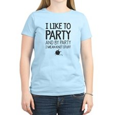 and by party i mean knit Women's Light T-Shirt