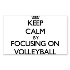 Keep Calm by focusing on Volleyball Decal