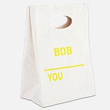 Cute Bob Canvas Lunch Tote