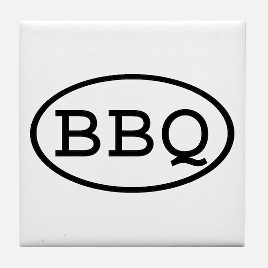 BBQ Oval Tile Coaster