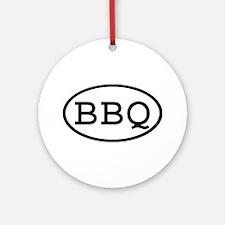 BBQ Oval Ornament (Round)