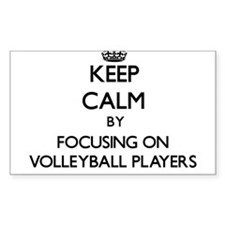 Keep Calm by focusing on Volleyball Player Decal