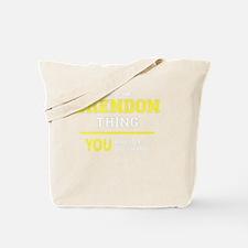 Cute Brendon Tote Bag