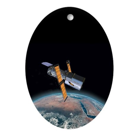 Hubble Telescope Astronomy Christmas Tree Ornament