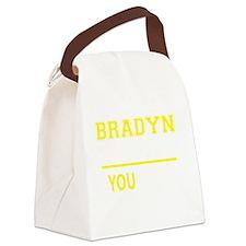 Cute Bradyn Canvas Lunch Bag