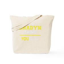 Cute Bradyn Tote Bag