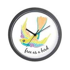 Free As Bird Wall Clock