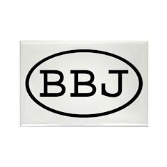 BBJ Oval Rectangle Magnet