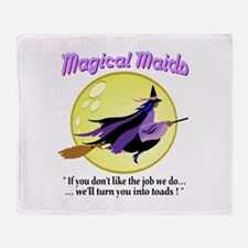 Magical Maids Throw Blanket