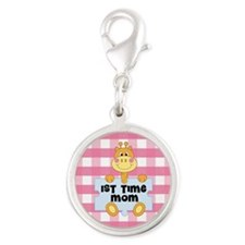 1st Time Mom baby girl giraffe Charms