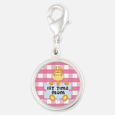 1st Time Mom baby girl giraffe Charms