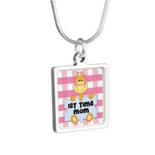 1st Time Mom baby girl giraffe Necklaces