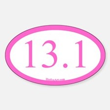 13.1 Running Oval Pink/pink Decal