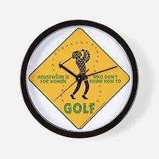Ladies Golf Wall Clock