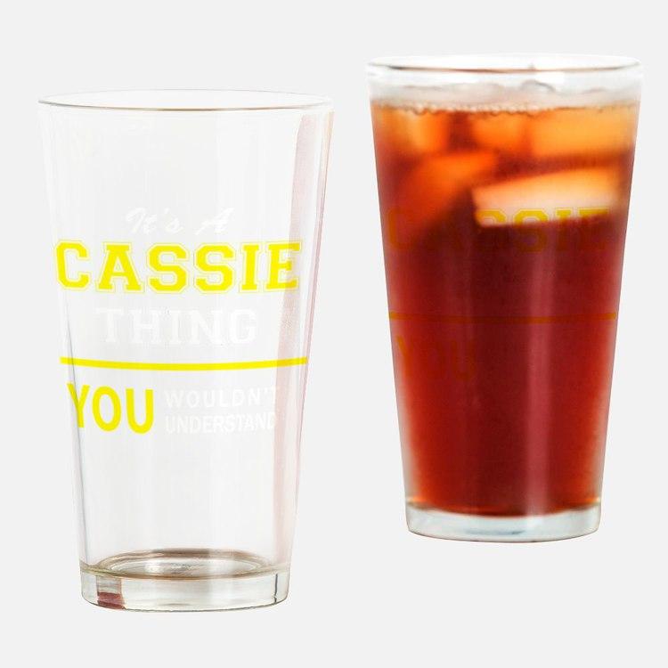 Cute Cassie Drinking Glass