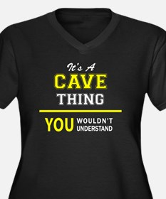 Cool You are in the cave Women's Plus Size V-Neck Dark T-Shirt