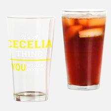 Cute Cecelia Drinking Glass