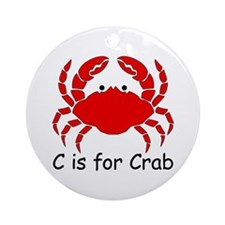 C is for Crab Ornament (Round)