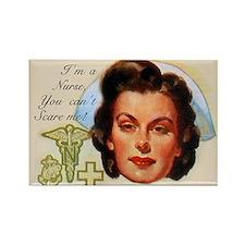 Vintage Nurses Don't Scare Rectangle Magnet
