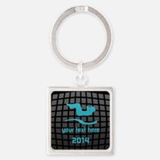 Cool Workout Gym Sport Yoga Square Keychain