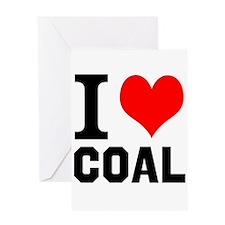 I Love Coal Greeting Cards