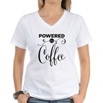 Powered By Coffee Women's V-Neck T-Shirt