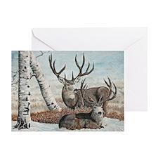 Snowy ridge bucks Greeting Card