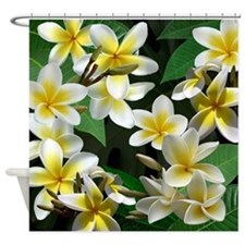 Plumeria Flowers Shower Curtain