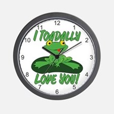 I Toadally Love You Wall Clock