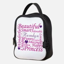 All about a girl Neoprene Lunch Bag