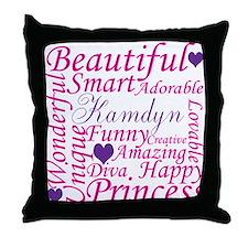 Unique Pink diva Throw Pillow