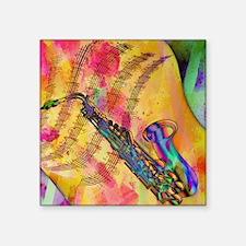 Colorful saxaphone Sticker