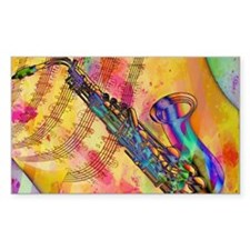 Colorful saxaphone Decal