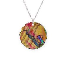 Colorful saxaphone Necklace